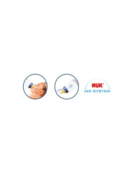 Nuk Biberon Baby Blue Latex T-1 M  0-6m, 150ml