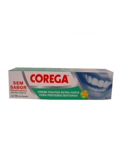 Corega Extra Fuerte Sin Sabor Adhesivo Prótesis Dental, 40g