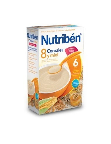 Nutribén 8 Cereales y Miel Frutos Secos, 600g