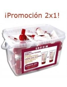 Uresim Pack Crema Manos Secas y Agrietadas, 2x50ml +Regalo Crema labial 7 gr