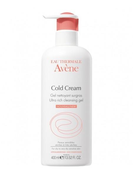 Avene Gel Limpiador al Cold Cream Cara y Cuerpo, 400ml