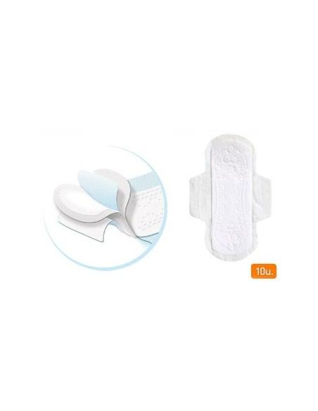 Farmaconfort Compresas de algodón Ultrafinas con Alas Día, 10Ud