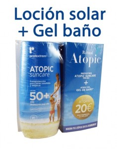 OTC Ferrer Protextrem PACK Atopic Suncare Loción SPF50+, 200ml + Atopic Gel Bano, 200ml
