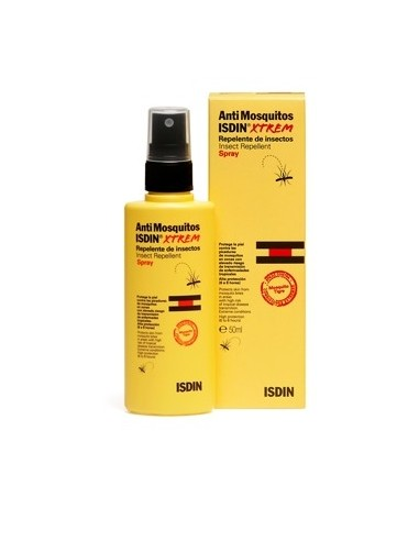 Isdin AntiMosquitos Xtrem Spray Repelente de Insectos, 50ml