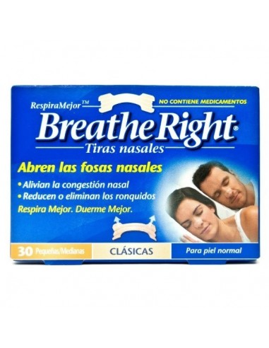 Breathe Right Tiras Nasales Pequenas, 30Ud