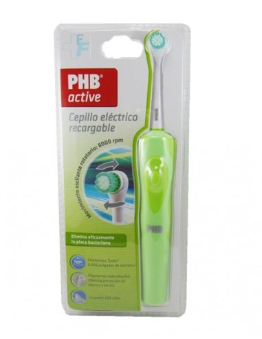 PHB Active Cepillo Dental Eléctrico Recargable Color Verde, 1Ud