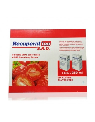 Recuperation S.R.O Suero Oral Fresa, 2 bricks x 250ml