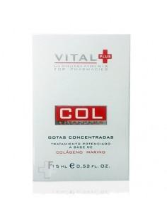 Vital Plus COL Gotas Concentradas Tratamiento Hidratante Cara con Colágeno Marino, 15ml