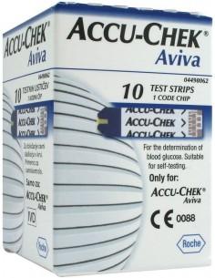 Accu-chek Aviva Tiras Reactivas, 10 tiras