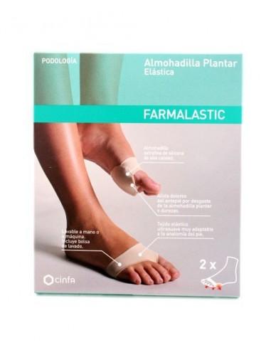 Almohadilla Plantar Farmalastic, Talla G + Crema Pies, 30ml