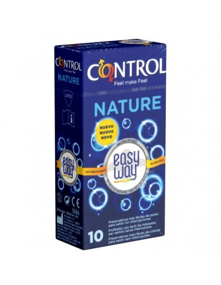 Control Preservativos Nature Easy Way, 10Ud