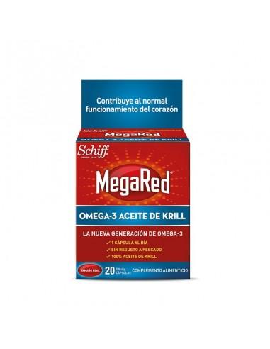 Megared 500mg Omega 3 Aceite de Krill, 20 Capsulas