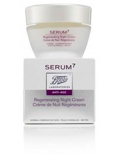 Serum7 Crema de Noche Regeneradora Antiarrugas Piel Seca, 50ml