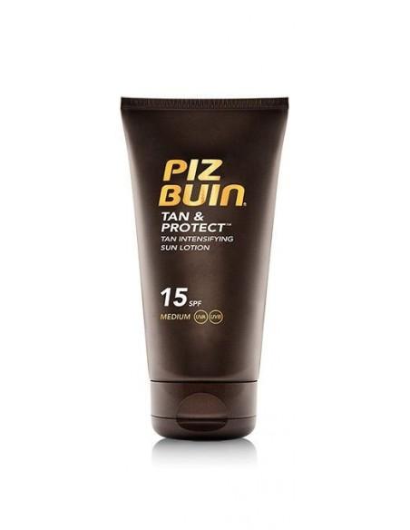 Piz Buin Tan & Protect Loción Solar Intensificadora del Bronceado SPF15, 150ml
