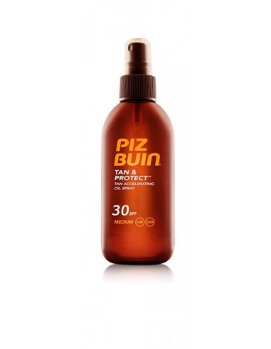 Piz Buin Tan & Protect Aceite en Spray Acelerador del Bronceado Spf30,150ml