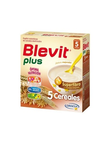 Ordesa Blevit Plus Superfibra Papilla 5 Cereales, 700g