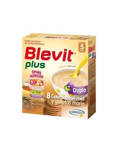 DUPLO Ordesa Blevit Plus 8 Cereales Miel y Galletas, 2x300g