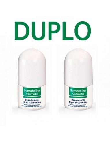 Somatoline Cosmetic DUPLO Desodorante Hipersudoración Roll-on, 2x 30ml