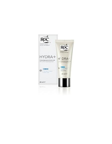 Roc Hydra+ 24 horas Crema Confort Textura Ligera SPF15, 40ml