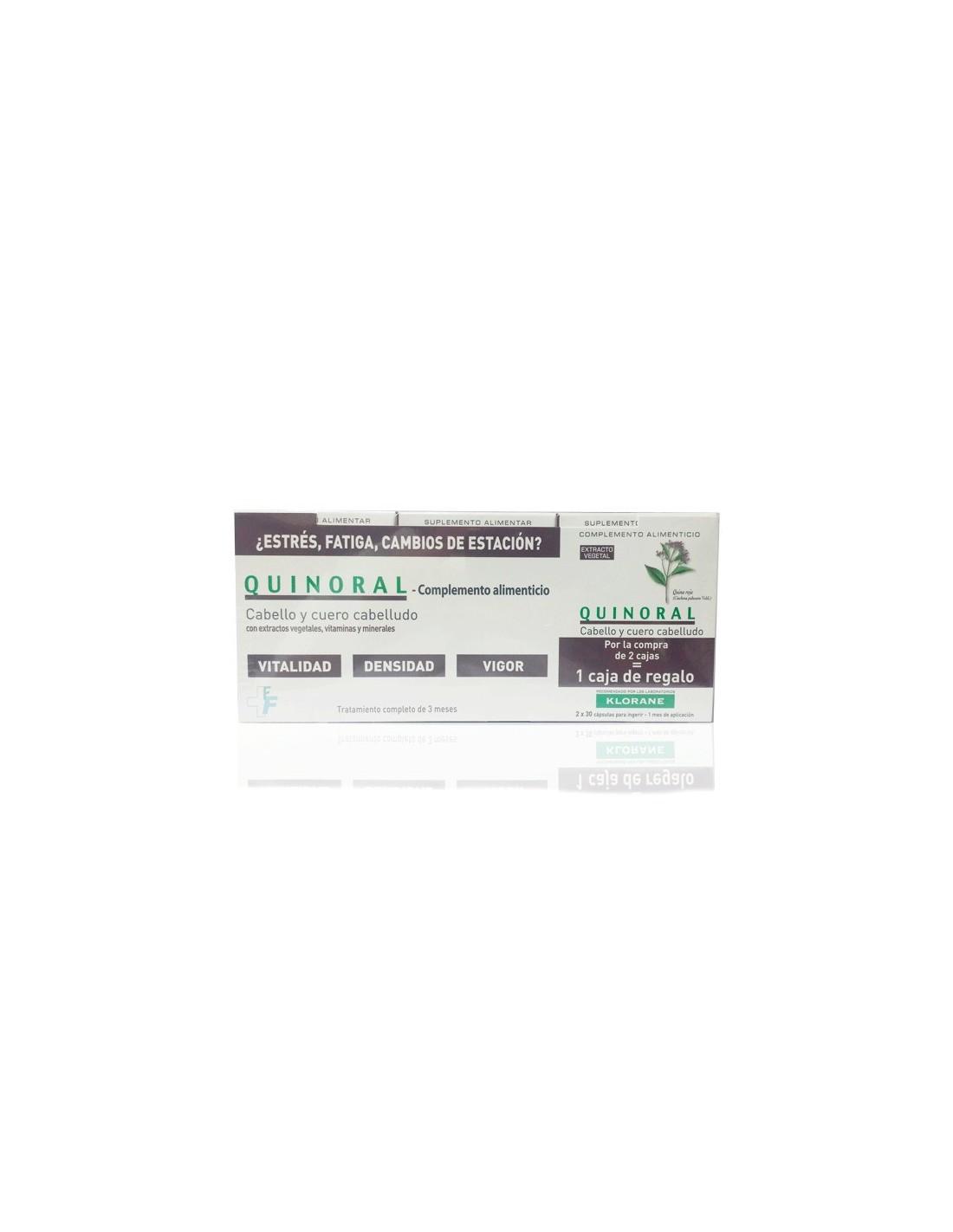 Klorane Pack Quinoral Fortalecedor Capilar, 3x60 cápsulas | Farmácia ...