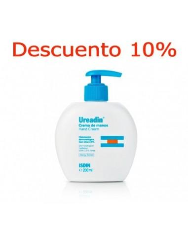 Ureadin Isdin Hand Cream Pump Hidratante Manos Secas, 200ml + Descuento 10%