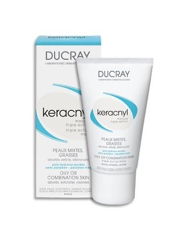 Ducray Keracnyl Mascarilla Triple Acción Pieles Mixtas y Grasas, 40ml