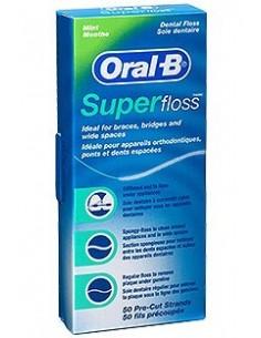 Oral B Hilo dental Super Floss, 50 Uds precortadas