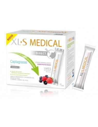 XLS Medical Captagrasas Direct Sabor Frutos Rojos, 90 sticks