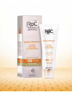 Roc Soleil protect fluido iluminador antiedad spf50, 50ml