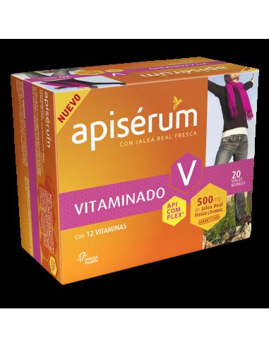 Apisérum Vitaminado con Jalea Real Fresca, 20 viales bebibles
