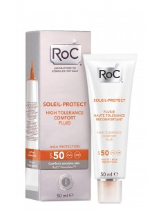 RoC Soleil Protect fluido dermocalmante alta tolerancia SPF 50, 50ml