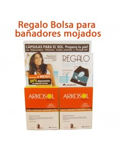 Arkosol Advance DUPLO Activador del Bronceado, 2x 30 Perlas + REGALO Bolsa Bañadores mojados