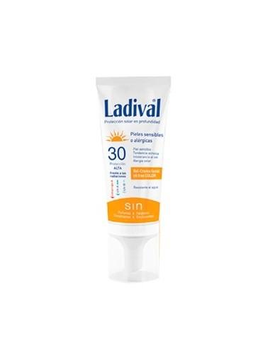 Ladival Fotoprotector Gel-Crema Facial Pieles Sensibles o Alérgicas, SPF30, 75ml