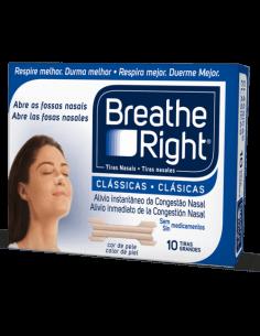 Breathe Right Tiras Nasales Clásicas 10Ud