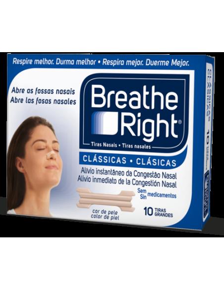 Breathe Right Tiras Nasales Clásicas, 10Ud