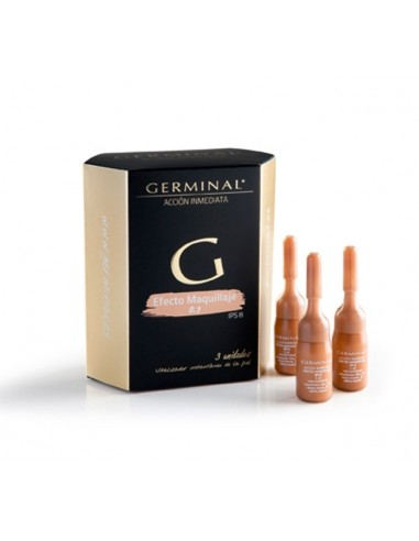Germinal Flash Acción Inmediata Efecto Maquillaje 0.2, 3 Ampollasx3ml + Regalo Reloj