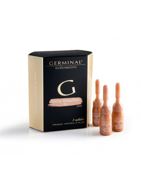 Germinal Ampollas Flash Acción Inmediata Efecto Maquillaje, 3 Ampollasx3ml