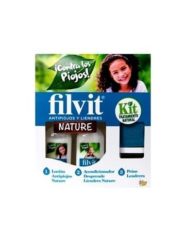 Filvit Kit Tratamiento Natural Antipiojos y Liendres