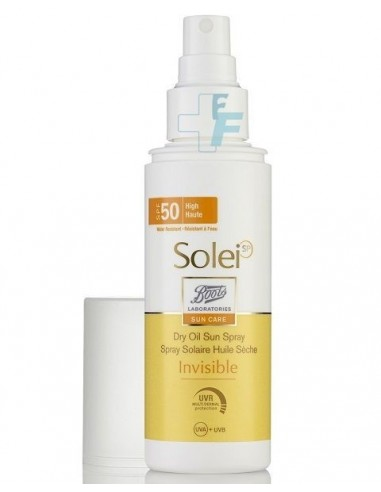 Boots Solei SP Sun Care Aceite Solar Seco Spray SPF50+, 125ml