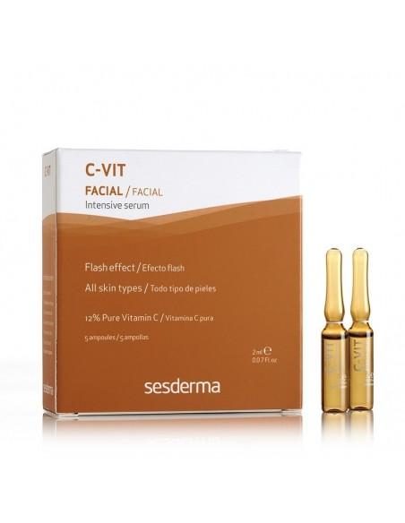 Sesderma C-Vit Serum Intensivo Antienvejecimiento Ampollas Efecto Flash, 5Udx2ml