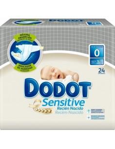 Dodot Sensitive Recién Nacido Talla 0, 24 Uds