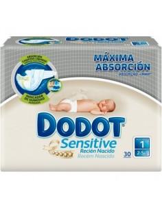 Dodot Sensitive Recién Nacido Talla 1, 30 Uds