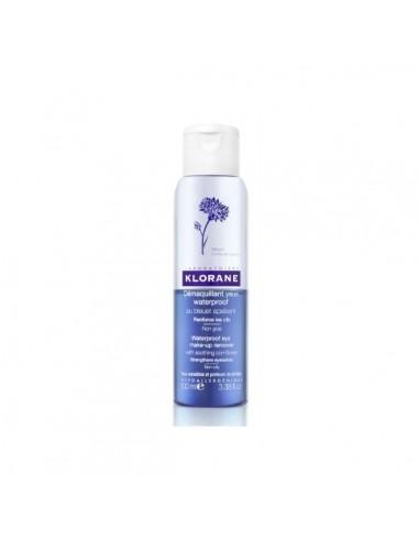 Klorane Desmaquillante de Ojos Waterproof al Aciano Calmante, 100 ml