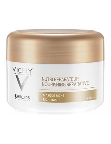 Vichy Dercos Mascarilla Rica Nutri-Reparador Cabellos Secos/Estropeados, 200ml