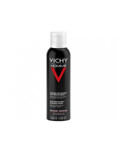 Vichy Homme Espuma Afeitar Anti-Irritaciones Piel Sensible, 200ml