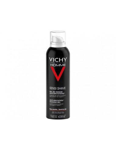 Vichy Homme Gel Afeitar Anti-Irritaciones Piel Sensible, 150ml