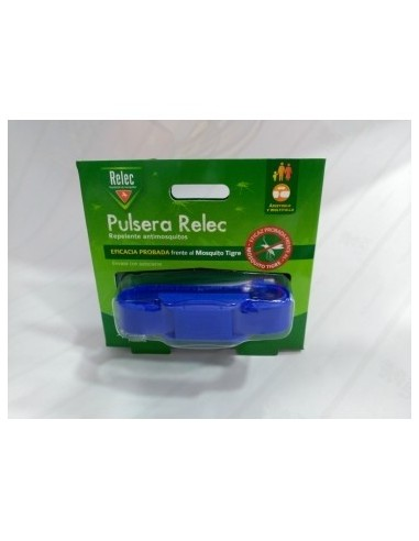 Relec Pulsera Repelente Antimosquitos color azul, 1Ud