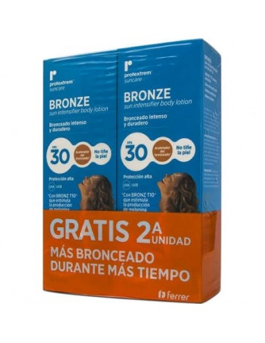 Repavar Protextrem Bronze Loción FPS 30+, 2 x 150 ml