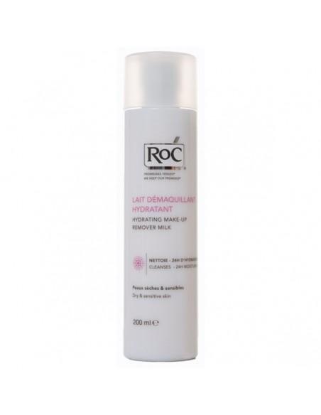 RoC Leche Limpiadora Hidratante Piel Seca y Sensible, 200ml