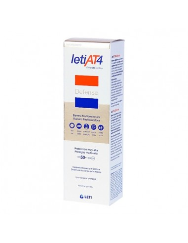 Leti AT-4 Defense Crema Corporal Pieles Atópicas y/o Secas SPF+50 , 100ml